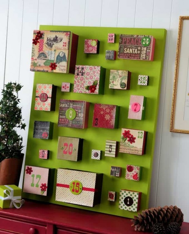 DIY Big Box Advent Calendar on Canvas