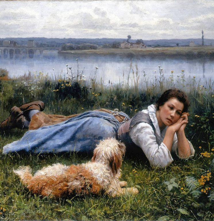Reverie By Daniel Ridgway Knight, Oil Painting